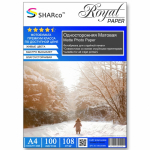 Фотобумага A4 SHARCO (108гр.,односторонняя, матовая, 100л