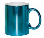 Кружка металлизированная синяя
