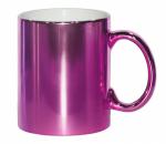 Кружка металлизированная розовая
