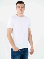 Купить мужские однотонные футболки белые (плотность 150-155 гр/м2)