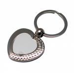 Брелок для ключей сердце A55 металл