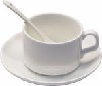 Кружка кофейная с блюдцем и ложкой для сублимации