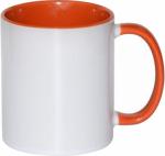 Кружка СТАНДАРТ цветная внутри и ручка оранжевая