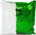 Наволочка волшебная зелено/белая 40x40 см сатин