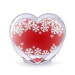 Сердце, пластик, без жидкости, в упаковке - СНЕЖИНКИ