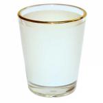 Рюмка стеклянная (золотая каемка), низкая (для сублимации)