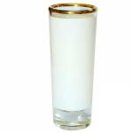Рюмка стеклянная (золотая каемка), высокая (для сублимации)