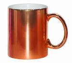Кружка металлизированная оранжевая