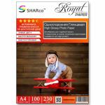 Фотобумага A4 SHARCO (230гр.,односторонняя, глянцевая, 100л.) [10]