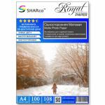 Фотобумага A4 SHARCO (108гр.,односторонняя, матовая, 100л.) [20]