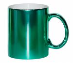 Кружка металлизированная зеленая