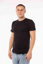 Купить мужские однотонные футболки чёрные (плотность 150-155 гр/м2)