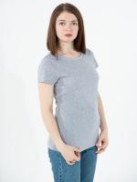 Купить женские однотонные футболки меланж (плотность 150-155 гр/м2)