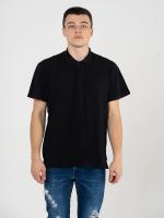 Купить Поло мужское Classic чёрное 180гр/м (100% хлопок)
