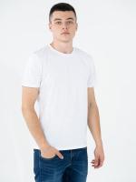 Купить футболки однотонные белые мужские Premium (плотность 180 гр/м2)