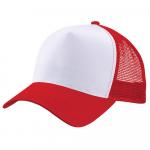 Бейсболка trucker для сублимации красная