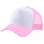 Бейсболка trucker для сублимации розовая