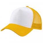 Бейсболка trucker для сублимации желтая