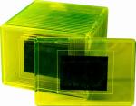 Фотомагнит прямоугольник 55х80 мм желтый в упаковке 25 шт