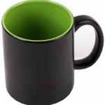 Кружка хамелеон черная внутри зеленая