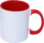 Кружка СТАНДАРТ цветная внутри и ручка красная