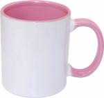 Кружка СТАНДАРТ цветная внутри и ручка розовая