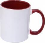 Кружка СТАНДАРТ цветная внутри и ручка темно/красная