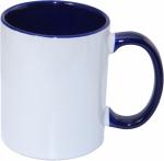 Кружка СТАНДАРТ цветная внутри и ручка темно/синяя