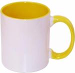 Кружка СТАНДАРТ цветная внутри и ручка желтая