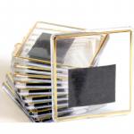 Фотомагнит квадрат 65х65 мм с позолотой (1уп=25шт)