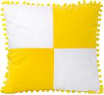Наволочка бело/желтая 40х40 см плюш