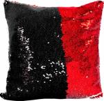 Наволочка волшебная черно/красная 40x40 см супермягкая
