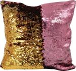 Наволочка волшебная розовая/золото 40x40 см супермягкая