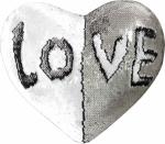 Наволочка волшебная сердце белая/серебро 43x35 см сатин