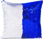 Наволочка волшебная сине/белая 40x40 см сатин