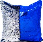 Наволочка волшебная синяя/серебро 40x40 см сатин