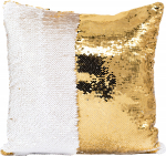 Наволочка волшебная золото/белая 40x40 см сатин