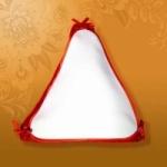 Подушка Треугольный знак 35x35x35