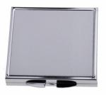 Зеркальце металлическое квадратное HM-02 5,5см