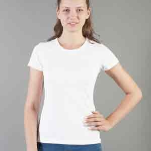 """Футболка женская """"Evolution"""", полиэстер/хлопок, белая, размер 40,42,44,46,48,50,52,54,56,58,60"""