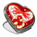 Зеркальце металлическое сердце 7 см